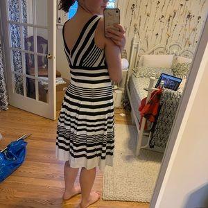 White House Black Market Dresses - White House black market striped a line dress